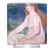 Blonde Bather II Shower Curtain