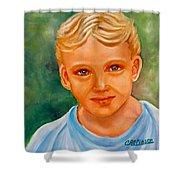 Blonde Boy Shower Curtain