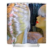 Blonde, Braids, Bangs And Beautiful Shower Curtain