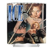 Blonde Ice Film Noir Shower Curtain