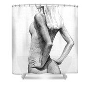 Blonde Nude2 Shower Curtain