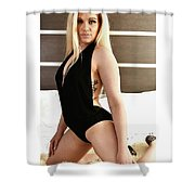 Blonde Ready Shower Curtain