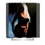 Blonde Woman Shower Curtain