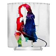 Blondie Watercolor Shower Curtain