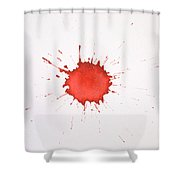 Blood Droplet Shower Curtain