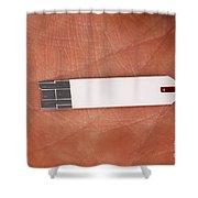 Blood Glucose Test Strip Shower Curtain