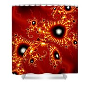 Blood In Love Shower Curtain