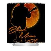 Blood Moon Blues T Shirt Shower Curtain