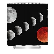 Blood Moon Of The Tetrad Shower Curtain