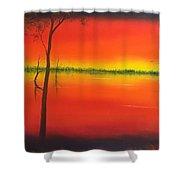 Blood Orange Sunset Shower Curtain