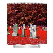Blood Red Shower Curtain