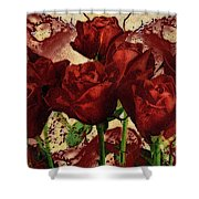 Blood Red Lust Shower Curtain