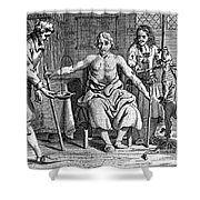 Blood Transfusion From Dog To Man, 1692 Shower Curtain