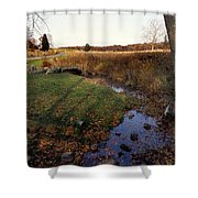 Bloody Creek Shower Curtain