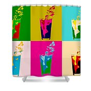 Bloody Mary Pop Art Panels Shower Curtain