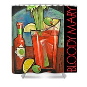 Bloody Mary Poster Shower Curtain