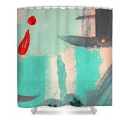 Bloody Tears In Spring Shower Curtain