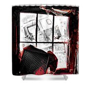 Bloody Walls Shower Curtain