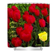 Bloom Where Your Planted Shower Curtain