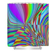 Bloomin Colorful Shower Curtain