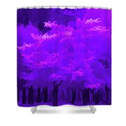 Blooming Amethyst Shower Curtain