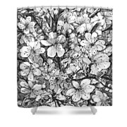 Blooming Apple Tree Shower Curtain