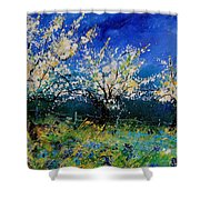 Blooming Appletrees 56 Shower Curtain