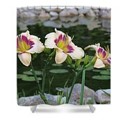 Blooming By The Pond Shower Curtain