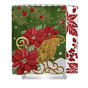 Blooming Christmas I Shower Curtain