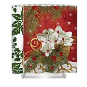 Blooming Christmas II Shower Curtain