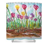 Blooming Colors Shower Curtain