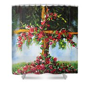 Blooming Cross Shower Curtain