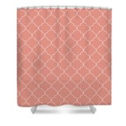 Blooming Dahlia Quatrefoil Shower Curtain