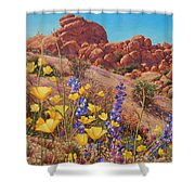Blooming Desert Shower Curtain