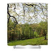 Blooming Landscape Shower Curtain