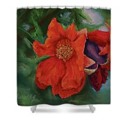 Blooming Poms Shower Curtain