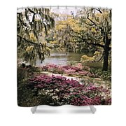 Blooming Shrubs And Trees Shower Curtain