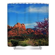 Blooming Tree In Sedona Shower Curtain