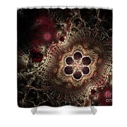 Blooming World II Shower Curtain