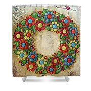 Blooming Wreath Shower Curtain