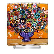 Blooms 6 Shower Curtain