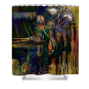 Blooms And Coils Shower Curtain