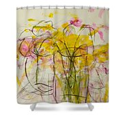 Blooms In Shadow Shower Curtain