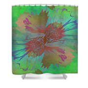 Blooms In The Mist Shower Curtain