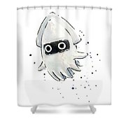 Blooper Watercolor Shower Curtain