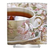 Blossoms Shower Curtain by Stephanie Calhoun