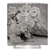 Blossom And The Bee Cornucopia  Shower Curtain