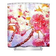 Blossom Textures Shower Curtain