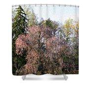 Blossom Tree Impressionist Shower Curtain