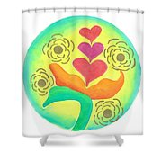 Blossoming From Within Shower Curtain